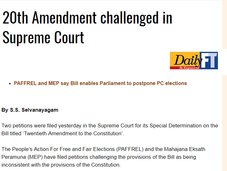 20th Amendment challenged in Supreme Court