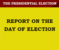 REPORT ON THE DAY OF ELECTION