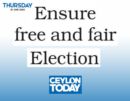 Ensure free and fair Election – PAFFREL