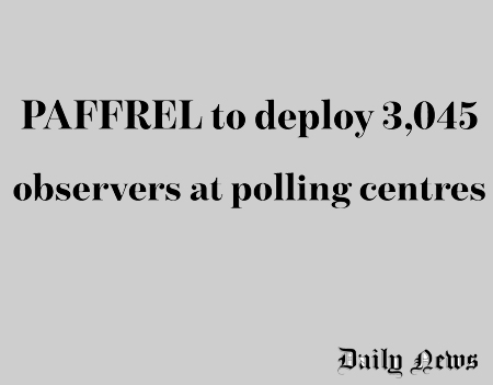 PAFFREL to deploy 3045 observers at polling centers