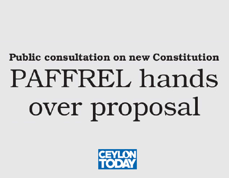 PAFFREL hands over proposal